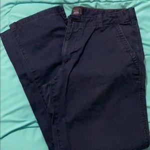 Dark blue khakis